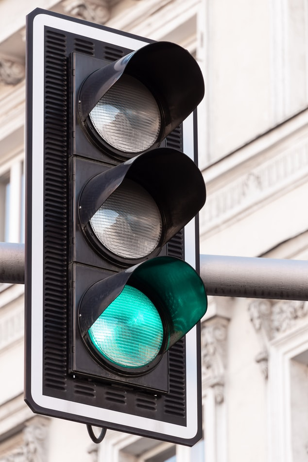 green intersection light
