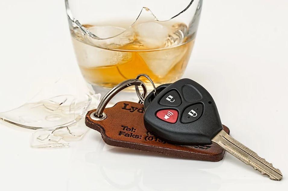 car key with broken glass
